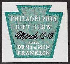 Usa Poster stamp: 1930s Philadelphia Gift Show, Hotel Benjamin Franklin - dw835