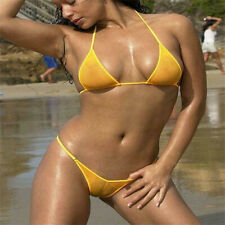 Mesh Micro Bikini Set Swimwear Women Brazilian Sheer Swimsuit Sexy See Through