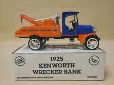 ERTL Diecast Bank 1925 Kenworth Wrecker Tow Truck Gulf Oil 1993 New In Box 1:30