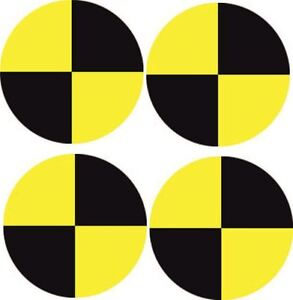 Crash Test Car Decal Sticker (Small, Pack of 4)