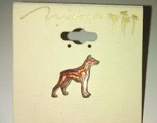 "Red Doberman Pinscher Lapel Pin Enamel 1/2"" Dog Mirage Casino"