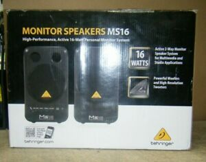 "Behringer MS16 Active 2-Way 4"" Professional Home Studio Monitors Speakers"