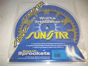 Sunstar Aluminum Works Triplestar Rear Sprocket 49 Tooth Fits 99-12 Yamaha YZ125