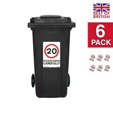 20 Mph Speed Signs [6 X Pack] - A4 Vinyl Stickers, White Background Ideal For...