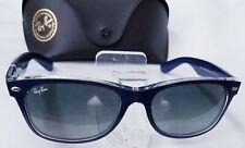 Ray Ban New Wayfarer RB2132 6053/71 Sunglasses NAVY/CRYSTAL Display Model 52mm