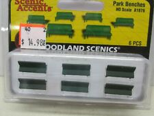 Woodland Scenics # A1879 ~ Scenic Accents - Park Benches ~Ho Scale