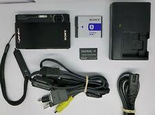 Sony Cyber-shot DSC-T77 10.1MP Digital Camera - Black + 4 GB Memory Card + Case