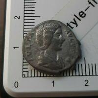 H08104 denier romain Julia domna 199 ric580 rareté r1 pièce de monnaie argent