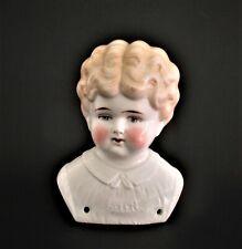 Antique German Hertig Porcelain China Shoulder Head Doll