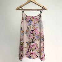 ENVIOUS Dress Size 8 Strappy Floral Shift Dress Short