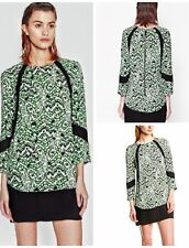 French Connection Tunic Dress Crepe Size 6 Leopard Moth Printed MSRP $160