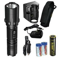 NiteCore R25 800 Lumen Rechargeable Smart-Dock Tactical Flashlight w/ 2xCR123As