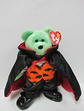 """Ty Beanie Baby  """"Kicks"""" Bear in Ty Gear COUNT *SPECIALLY PRICED for Halloween*"""