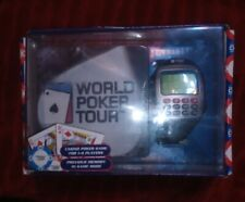 World Poker Tour Travel Game Wrist Watch Texas Hold'em Official Wpt With Coaster