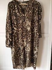 Gerard Darel Estampado de Leopardo Camisa Vestido Talla 46