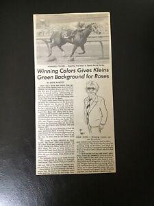 WINNING COLORS 1988 Santa Anita Derby Clipping Horse Racing