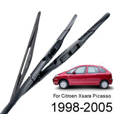 3PCS Front Rear Windshield Wiper Blades Fit For Citroen Xsara Picasso 1998-2005
