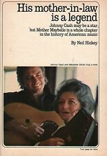 1971 TV GUIDE ARTICLE~JOHHNY CASH & MAYBELLE CARTER SING A DUET~COUNTRY MUSIC