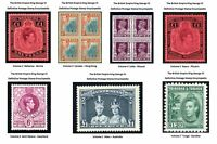British Empire King George VI Collection / Volumes 1-7 / Detailed Stamp Catalog