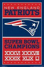 NEW ENGLAND PATRIOTS - 2017 SUPER BOWL CHAMPIONS POSTER - 22x34 NFL 15727