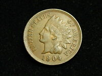 NEW INVENTORY  AU 1904 INDIAN HEAD CENT PENNY w/ FULL LIBERTY & DIAMONDS #184i