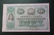 PARAGUAY BANKNOTE 10 Pesos Fuertes, Pick S185  AU  1870 (Lezica y Lanus)