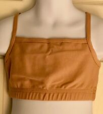 GK ELITE STYLE #1461 SPORTS BRA SIZE CHILD MEDIUM CAMI NUDE COTTON SPANDEX CM