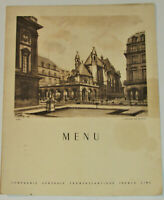 VTG 1952 SS LIBERTE DINNER MENU! FRENCH LINE! FRENCH & ENGLISH/PRINTED IN FRANCE
