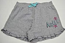 Girls Disney Ariel Gray Lounge Ruffles Hem Shorts Size XL (14-16)