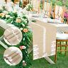 Chemins table fleurs Hesse cousues bord Vintage décorations fête mariage jute BR