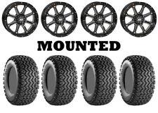 Kit 4 Carlisle All Trail Tires 25x8-12/25x10.5-12 on STI HD4 Gloss Black IRS