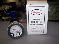 New Dwyer A3000-80Cm Photohelic Pressure Switch 0-80 Cm Of Water 120 Vac 25 Psig