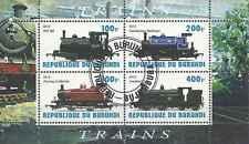 Timbre Trains Burundi o année 2010 lot 22588