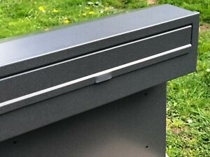 Space Gray XXL HUGE MAIL Post Box for Gates and Fences mailbox outdoor