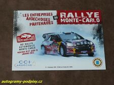 Sebastien LOEB - Citroen 2012 Rallye Monte Carlo promo, Karte/card 10x15 cm
