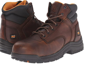 """Timberland PRO TiTAN Men's Brown Composite Safety-Toe 6"""" Work Boot TB050508"""