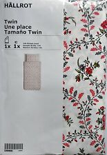 IKEA hallrot – Copripiumino e federe, bianco - 150x200/50x80 cm
