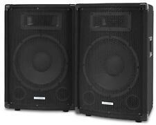 """2x Enceintes Sono DJ PA Disco Haut Parleur 3 Voies Subwoofer 10"""" (25cm) 800w"""