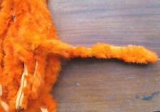 1m orange genuine real Chinese  rabbit fur pelt strip trim fabric craft clothes