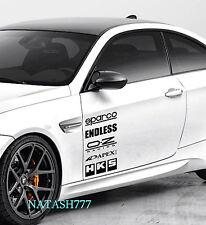 Racing Sponsors MITSUBISHI sport sponsor sticker emblem logo decal BLACK Pair