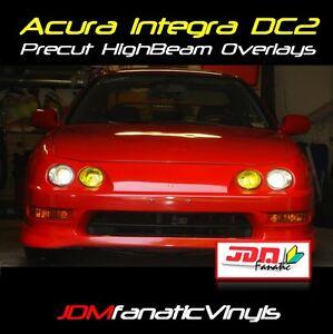 Acura Integra High Beam Headlight DC DC2 JDM yellow Overlays TINT