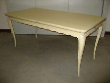 Tavolo rettangolare fisso laccato bianco/giallo. Art.3824