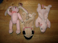Lot Of 3 -Ty Beanie Babies (1 Attic Treasures Coll.) With Tags+ Beanie Bag