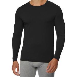 32 Degrees HEAT Men's Performance Mesh Long Sleeve Crew Neck Thermal Top Black