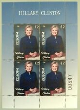 Kosovo Stamps 2019. 20-th Freedom. HILLARY CLINTON: USA First lady. Sheet MNH