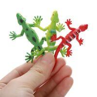 12Pcs Niños Bebé Suave Lagarto Reptil Modelo Decoración Toy Simulación Color De