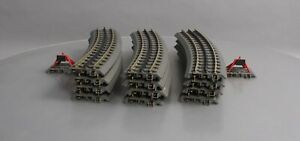 MTH O Gauge Assorted RealTrax Curved Sections & Bumpers [14]