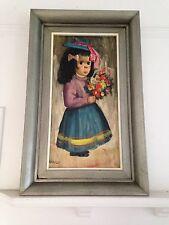 "Abruzzi Harold Stephenson Painting Little ""Estrolita"" Oil Painting 1960s"