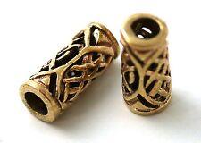 Bronze Norse Viking Celtic Beard Beads Rings, Dwarven Dreadlock Pirate Medieval