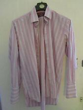 "Pink Orange & Light Grey Stripe Charles Tyrwhitt Shirt - 16"" Collar - Chest 50"""